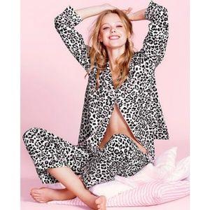 Victoria Secret Pink Leopard Print Pajama Set